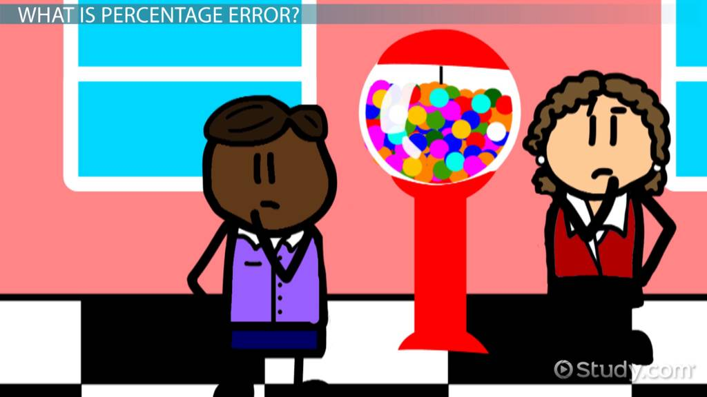What Is Percentage Error Definition Example Video Lesson