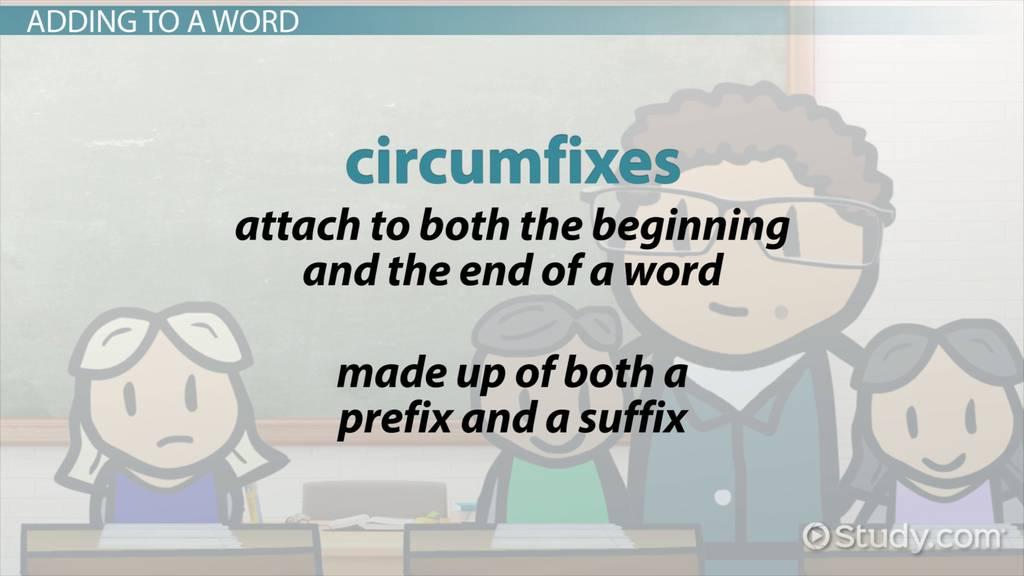circumfixes in english  definition  u0026 examples