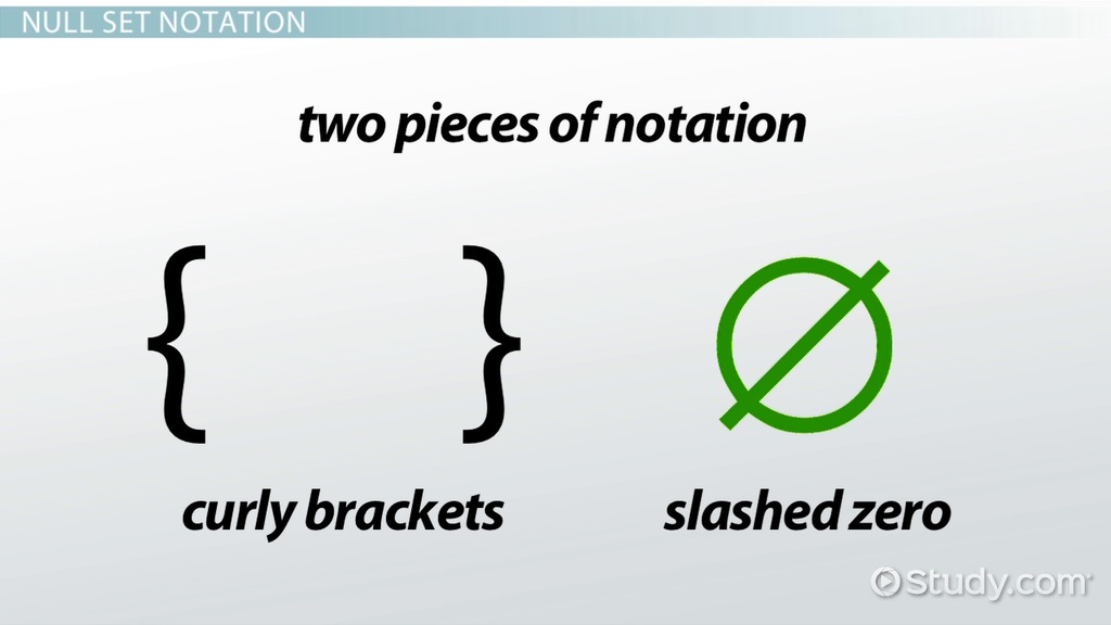 Null Set Definition Example Video Lesson Transcript Study
