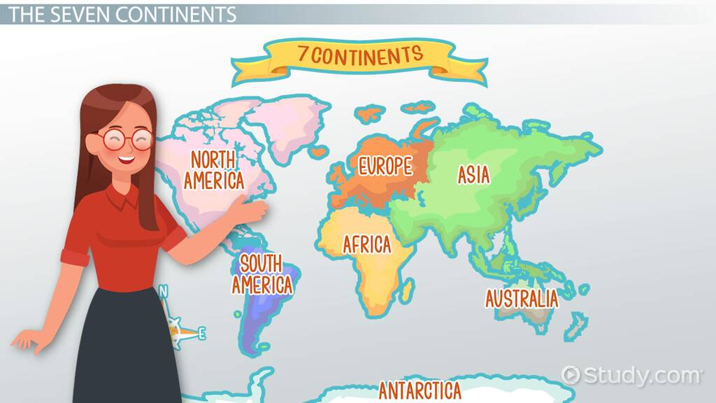 Picture of: Identifying The Continents Oceans Of The World Video Lesson Transcript Study Com