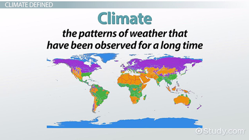 Temperature Ranges By Seasons And Climates Video Lesson