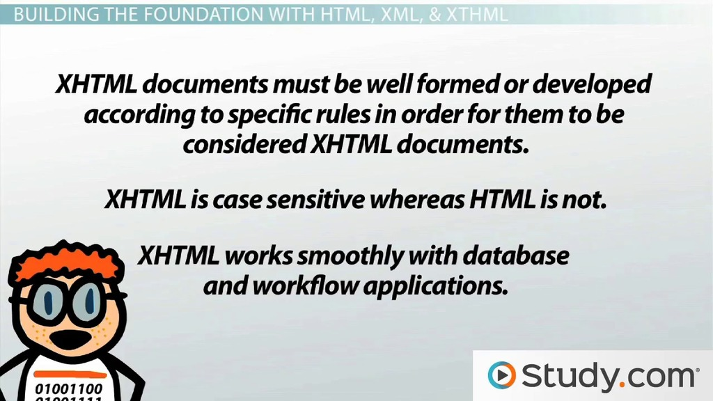 Web Page Design And Programming Languages Html Xhtml Xml Css Javascript Video Lesson Transcript Study Com