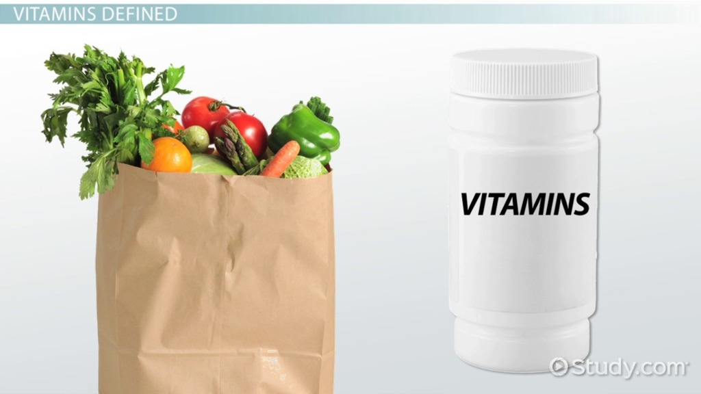 What Are Vitamins Definition Types Purpose Examples Video Lesson Transcript Study Com