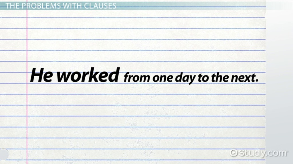 What Is A Dependent Clause Definition Examples Video Lesson