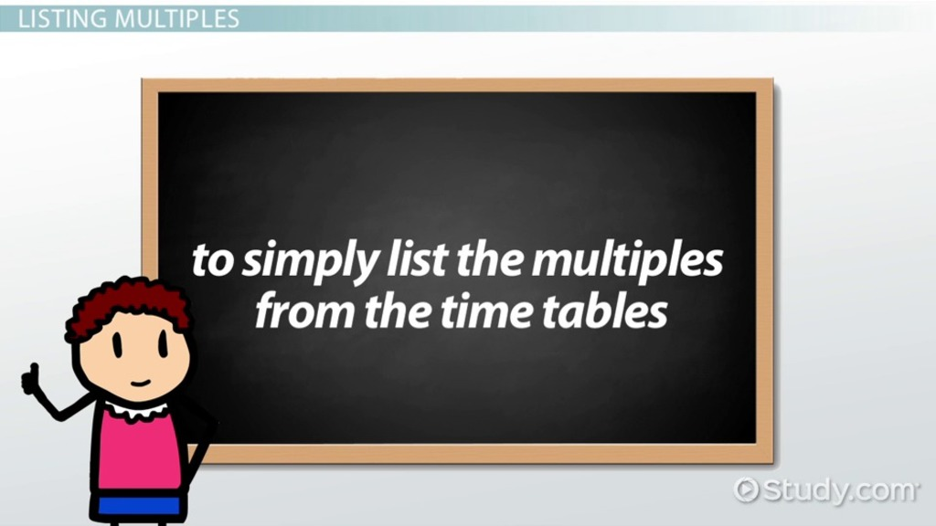 What Is A Multiple In Math Definition Overview Video Lesson