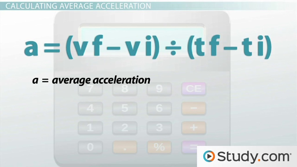 What Is Acceleration Definition And Formula Video Lesson