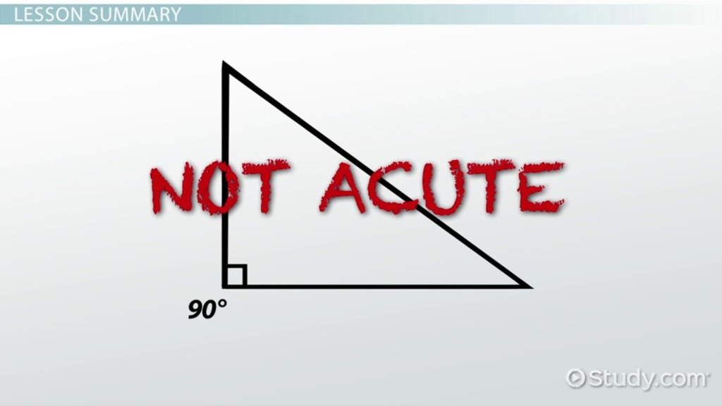 What Is An Acute Triangle Definition Facts Example Video