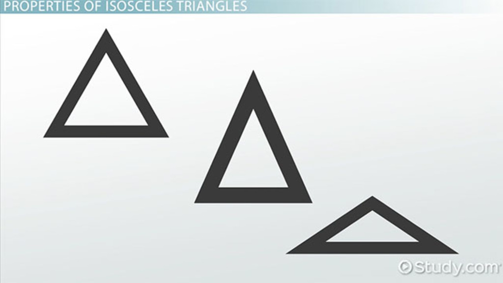 What Is An Isosceles Triangle? - Definition, Properties & Theorem - Video &  Lesson Transcript Study.com