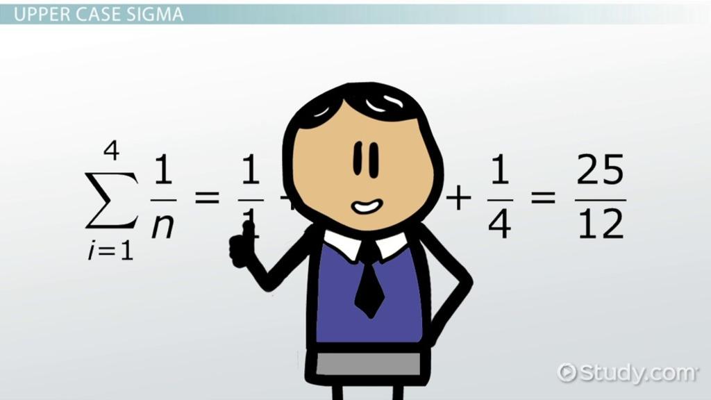 What Is Sigma Definition Concept Video Lesson Transcript
