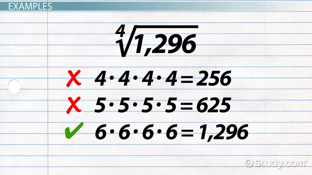 How To Find The Fourth Root Of A Number Video Lesson Transcript