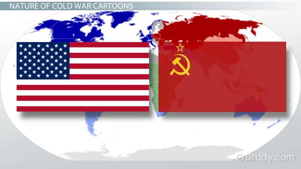 Cold War Political Cartoons Explanation Analysis Video Lesson Transcript Study Com