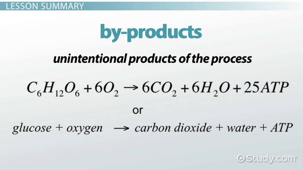 By Products Of Cellular Respiration Video Lesson Transcript Study Com