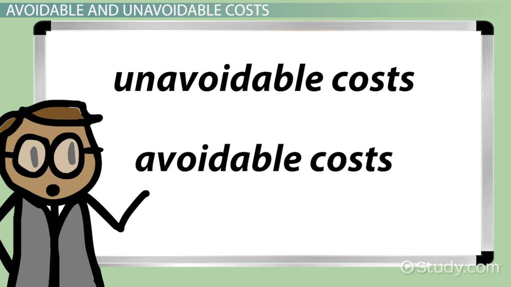 Difference Between Avoidable Costs Amp Unavoidable Costs