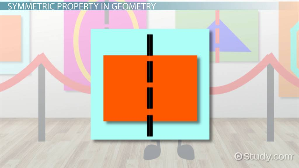 symmetric property in geometry  definition  u0026 examples