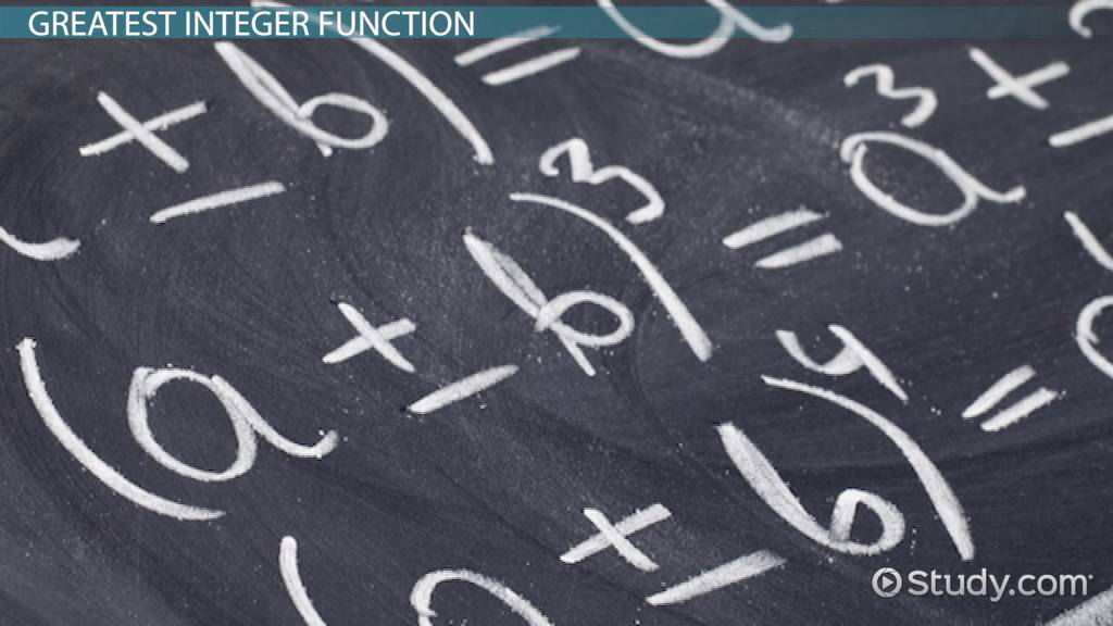 Greatest Integer Function Definition Exles Video Lesson. Greatest Integer Function Definition Exles Video Lesson Transcript Study. Worksheet. Greatest Integer Function Worksheet At Mspartners.co