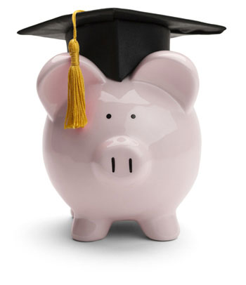 A Piggy Bank with a Graduation Cap