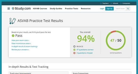 asvab test study guides studycom