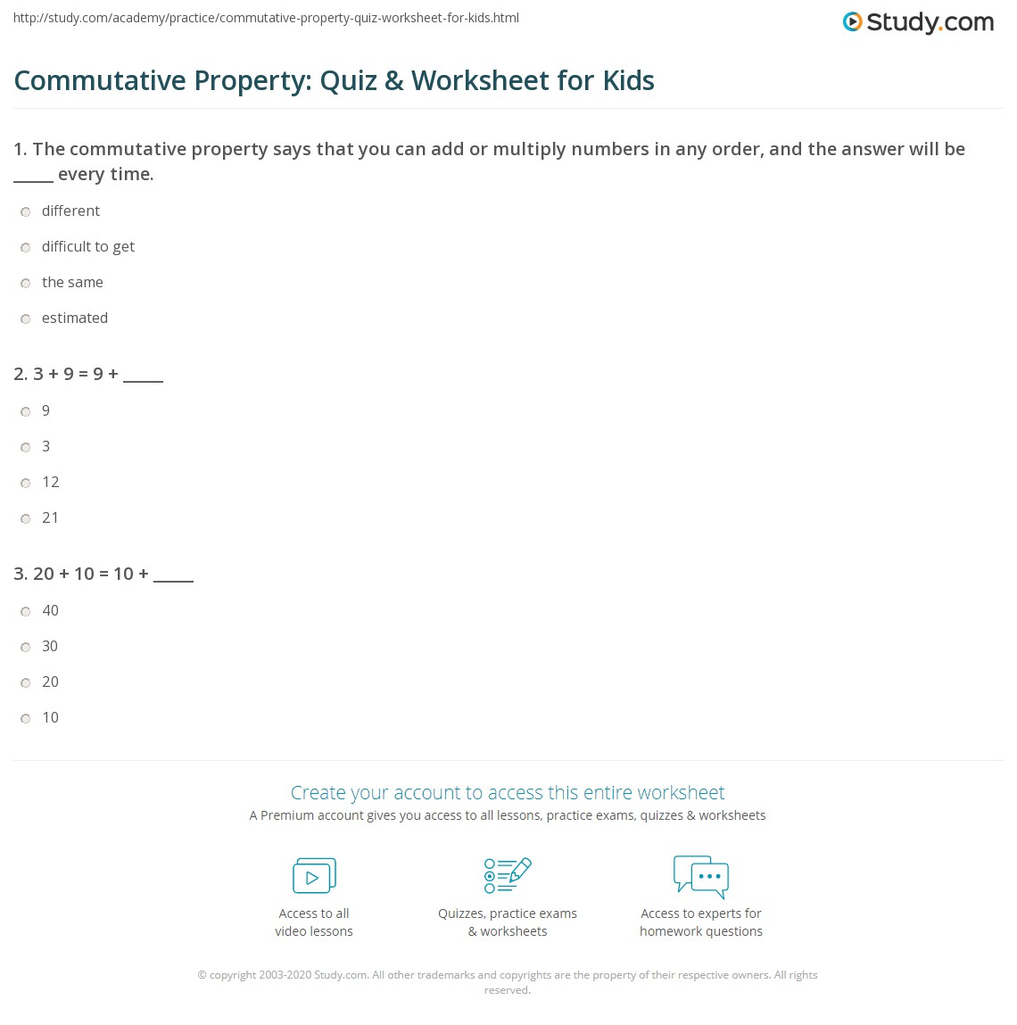 Worksheet 595800 Commutative Property of Multiplication – Associative Property of Multiplication Worksheet