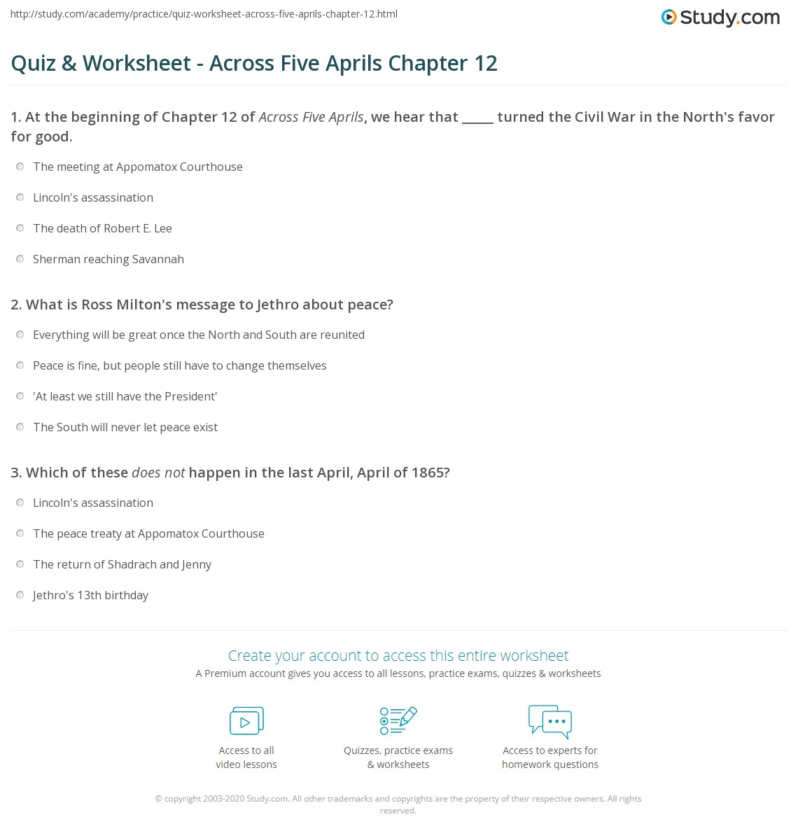 across five aprils chapter analysis Study guide for across five aprils summary by irene hunt analysis book notes free booknotes online/download cliff notes™, cliffs notes™ chapter 10 summary.