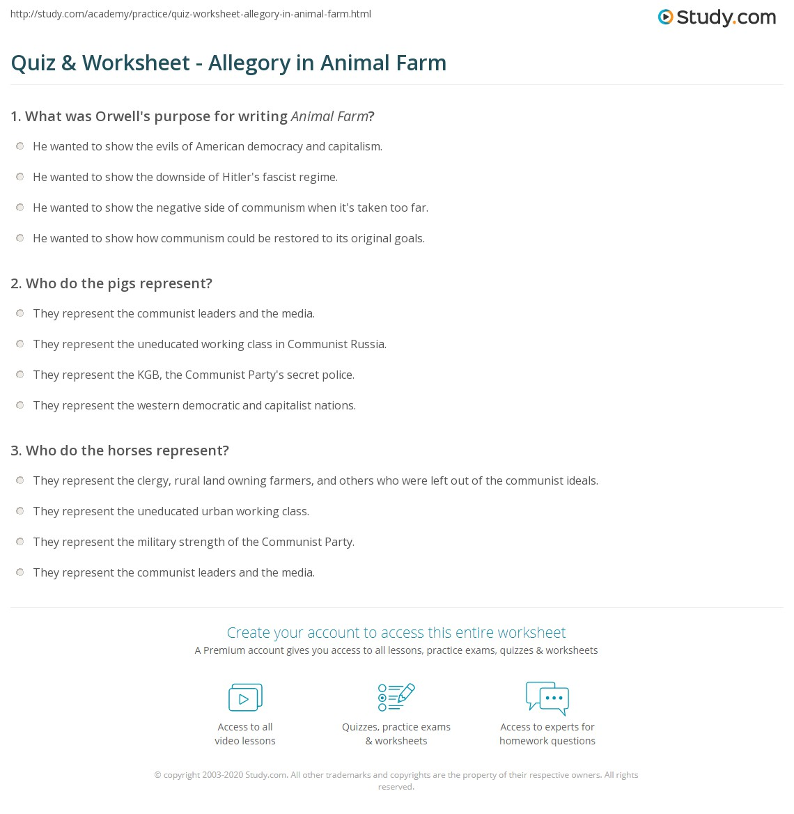 worksheet allegory worksheet worksheet and  worksheet allegory worksheet quiz worksheet allegory in animal farm study com print characters examples worksheet