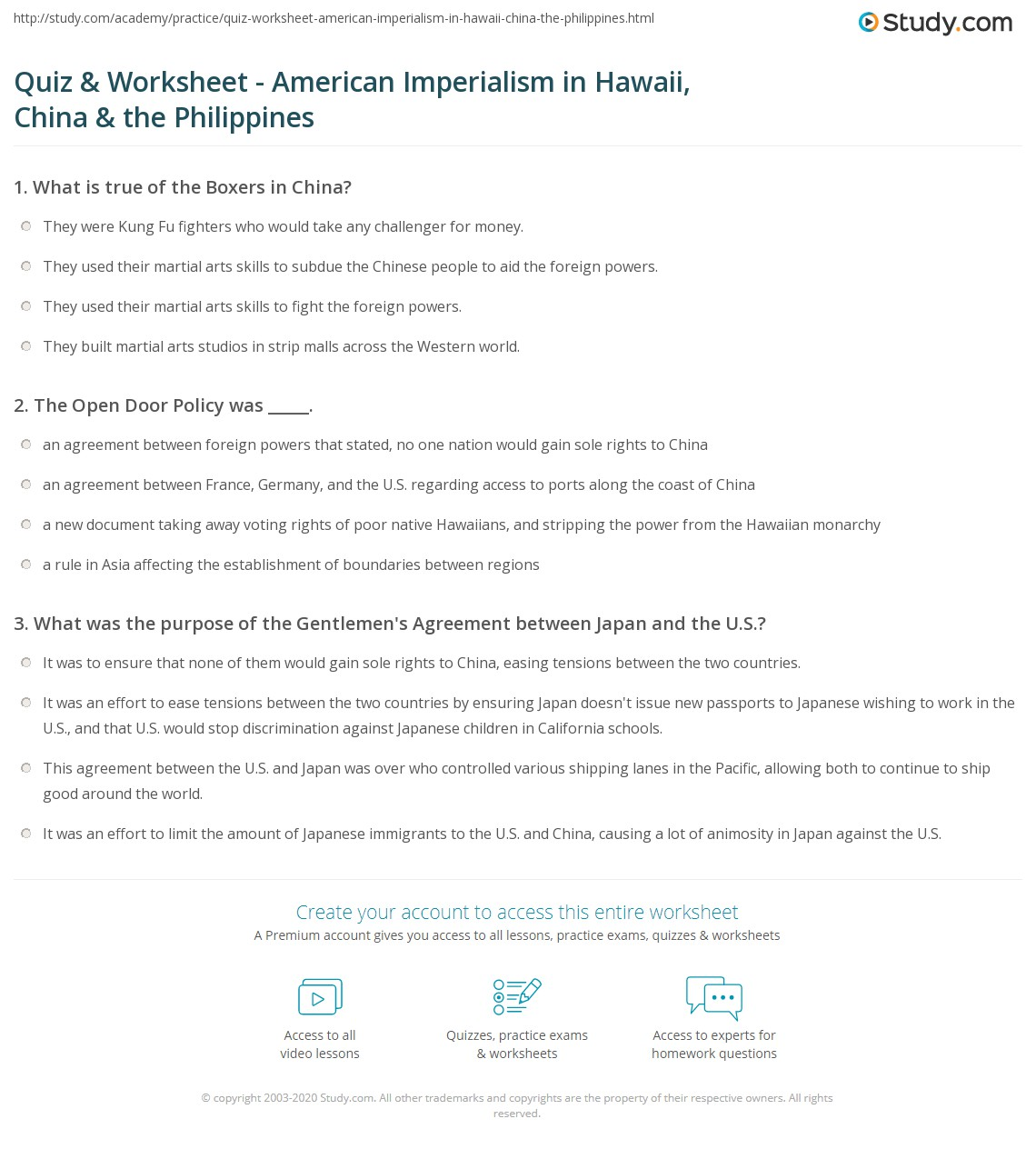 american imperialism worksheet delibertad quiz worksheet american imperialism in hawaii the