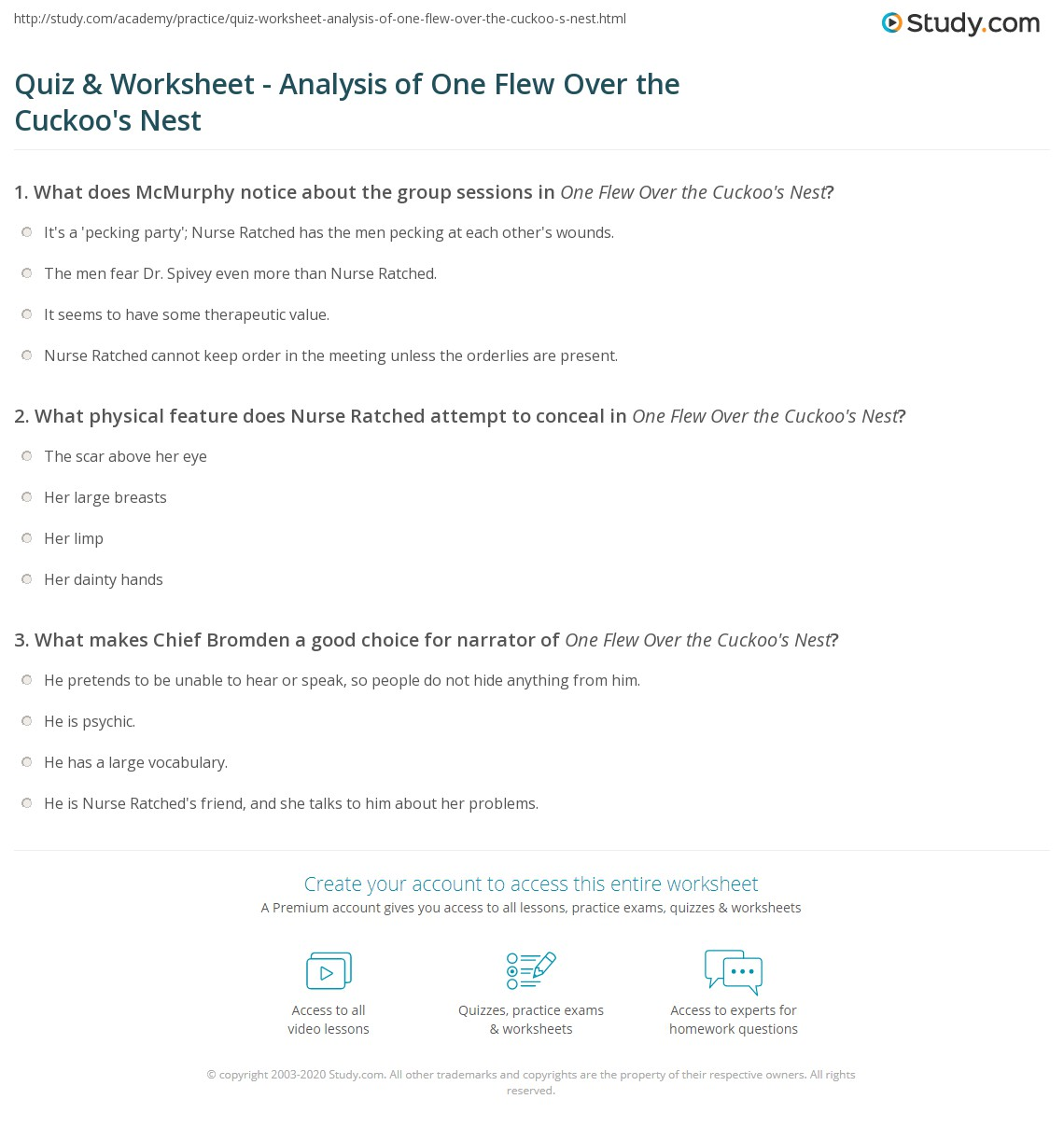 quiz worksheet analysis of one flew over the cuckoo s nest print one flew over the cuckoo s nest analysis worksheet