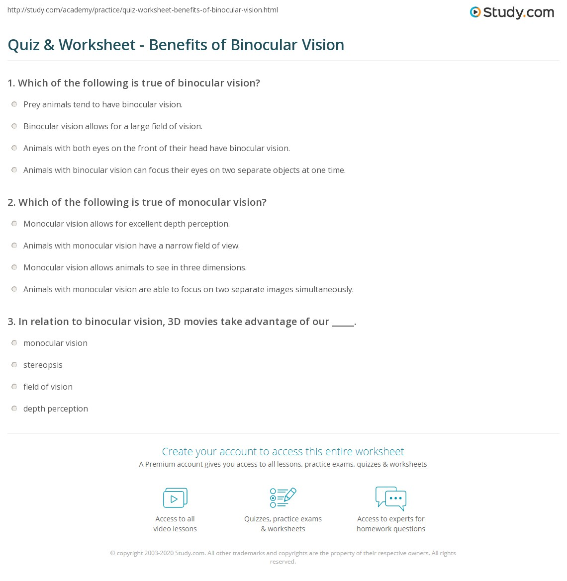 special senses worksheet Termolak – Chapter 8 Special Senses Worksheet Answers