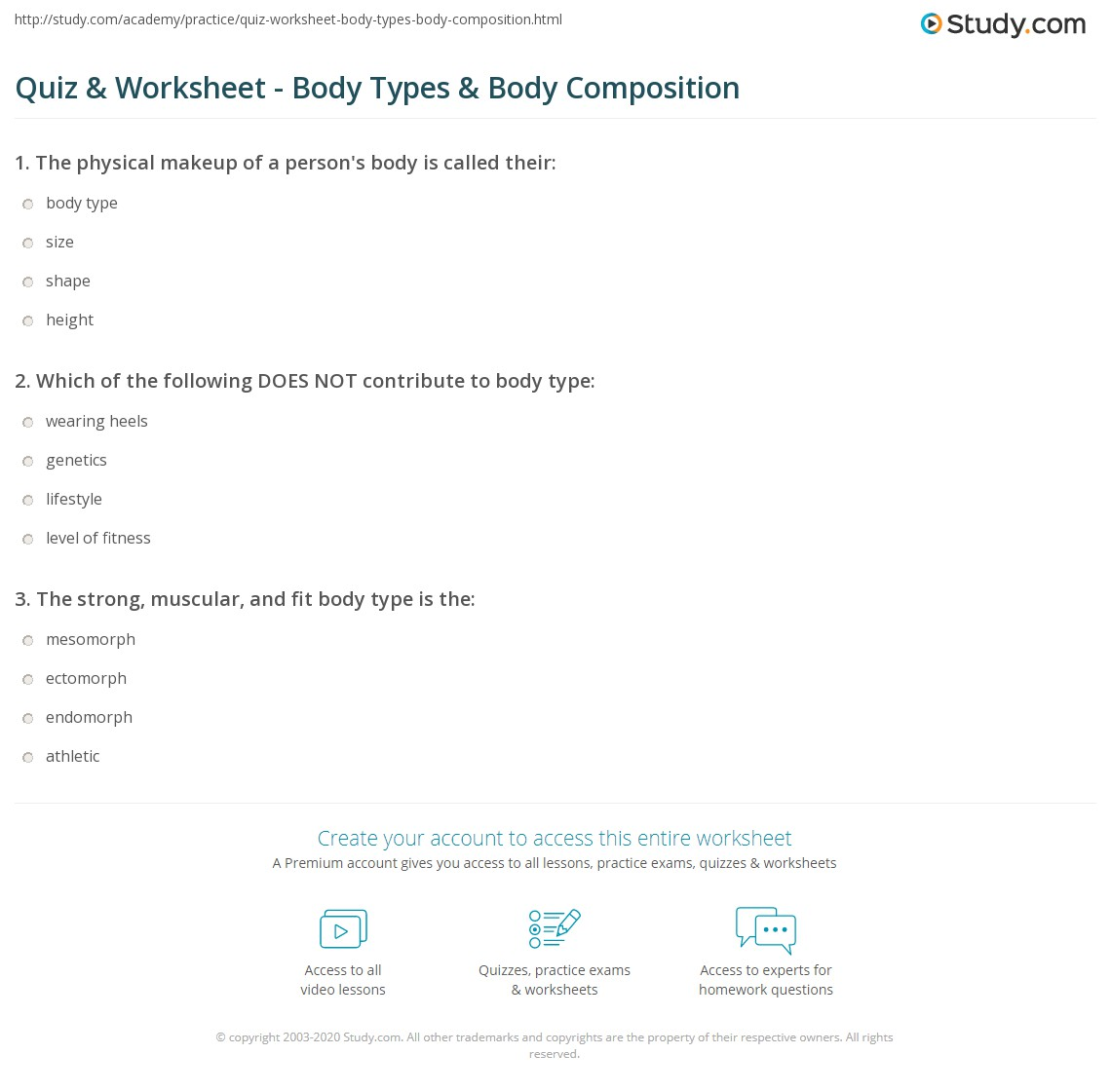 Body Composition Worksheet - Tecnologialinstante