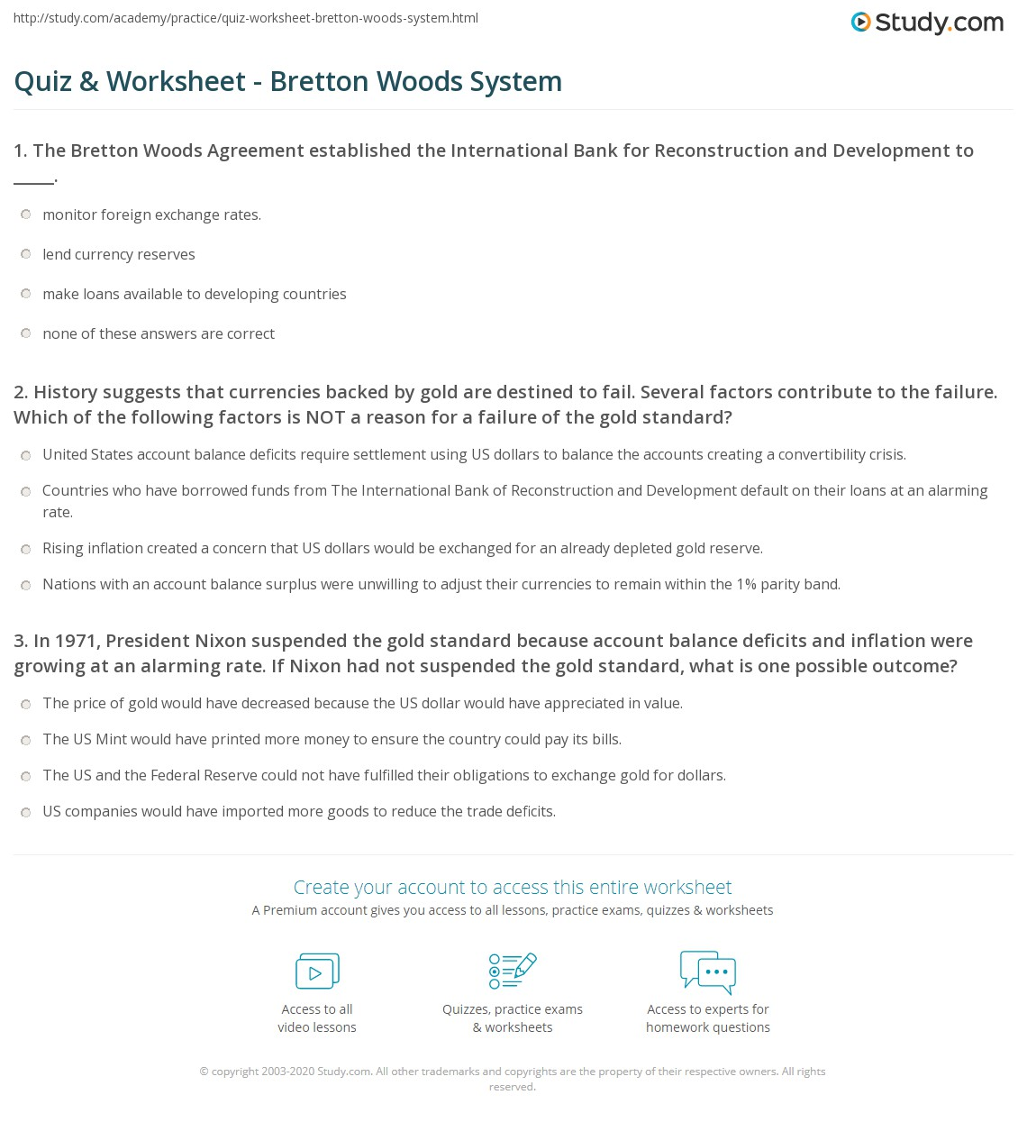 Uncategorized If I Were President Worksheet quiz worksheet bretton woods system study com print the agreement definition collapse worksheet