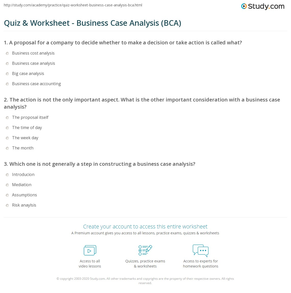 how to write a business case analysis paper