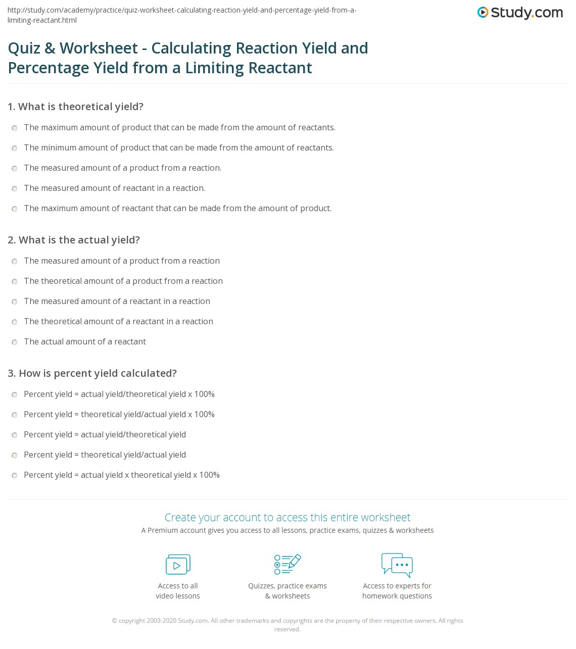 Free Worksheet Limiting Reagent Worksheet Answers limiting reagents worksheet calculating reaction yield and percentage yield