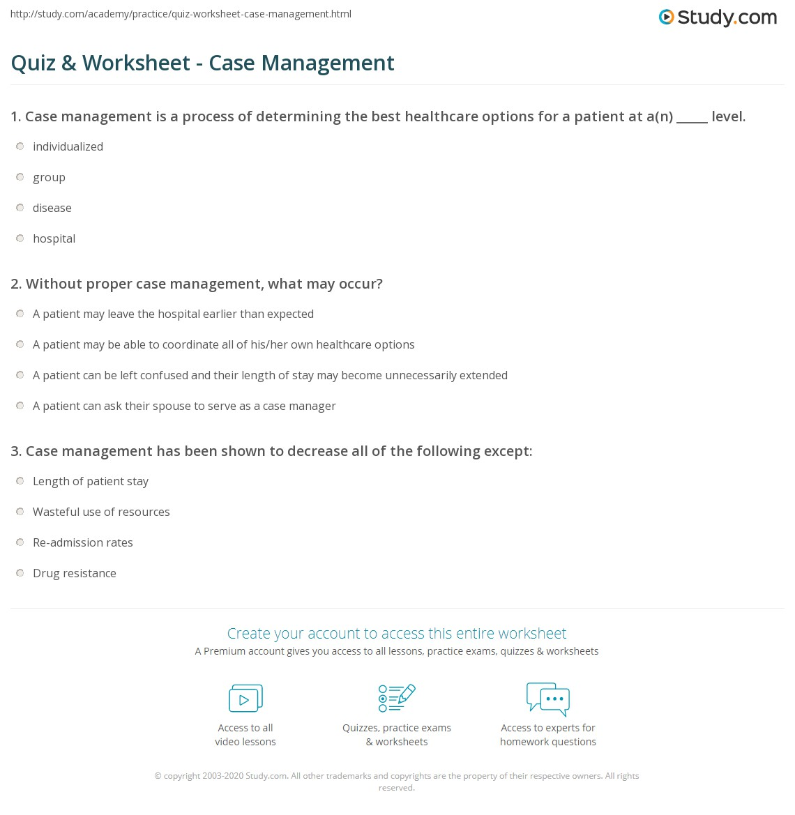 What Is Case Management? - Definition & Role in Healthcare