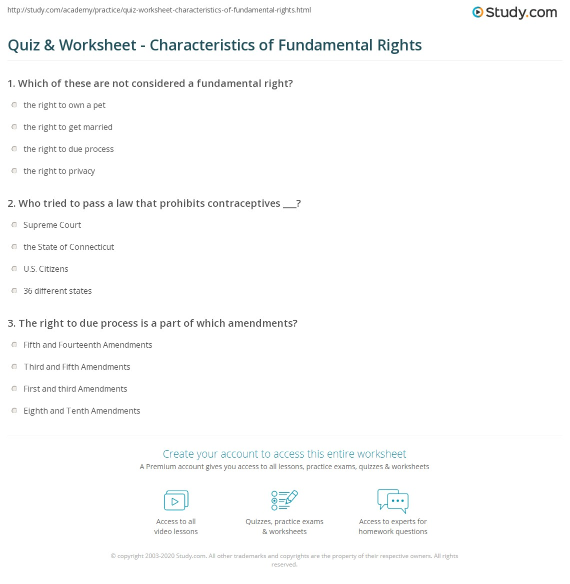 Aldiablosus  Outstanding Quiz Amp Worksheet  Characteristics Of Fundamental Rights  Studycom With Engaging Print What Are Fundamental Rights  Definition Types Amp Features Worksheet With Beauteous Numbers To Words Worksheet Also Antonyms Worksheets For Third Grade In Addition Percentage To Fraction Worksheet And Printable Missing Number Worksheets As Well As Worksheet For Letter H Additionally Matrices And Determinants Worksheets From Studycom With Aldiablosus  Engaging Quiz Amp Worksheet  Characteristics Of Fundamental Rights  Studycom With Beauteous Print What Are Fundamental Rights  Definition Types Amp Features Worksheet And Outstanding Numbers To Words Worksheet Also Antonyms Worksheets For Third Grade In Addition Percentage To Fraction Worksheet From Studycom