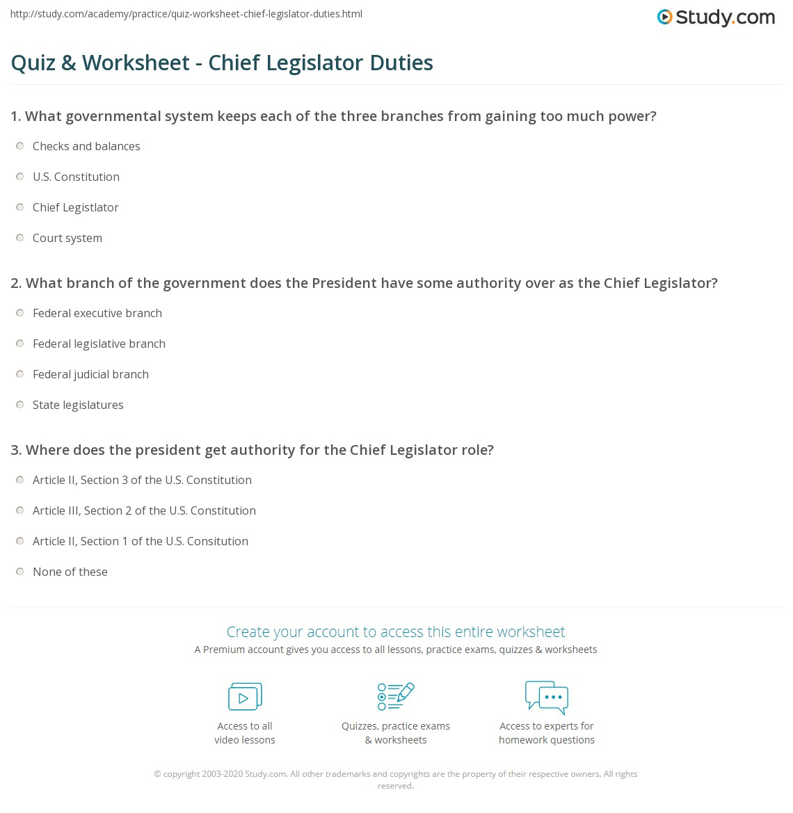 Roles Of The President Worksheet Free Worksheets Library – Roles of the President Worksheet