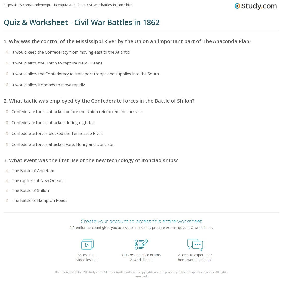 Worksheets Civil War Worksheets 5th Grade civil war battles worksheet free worksheets library download and battle projects printables