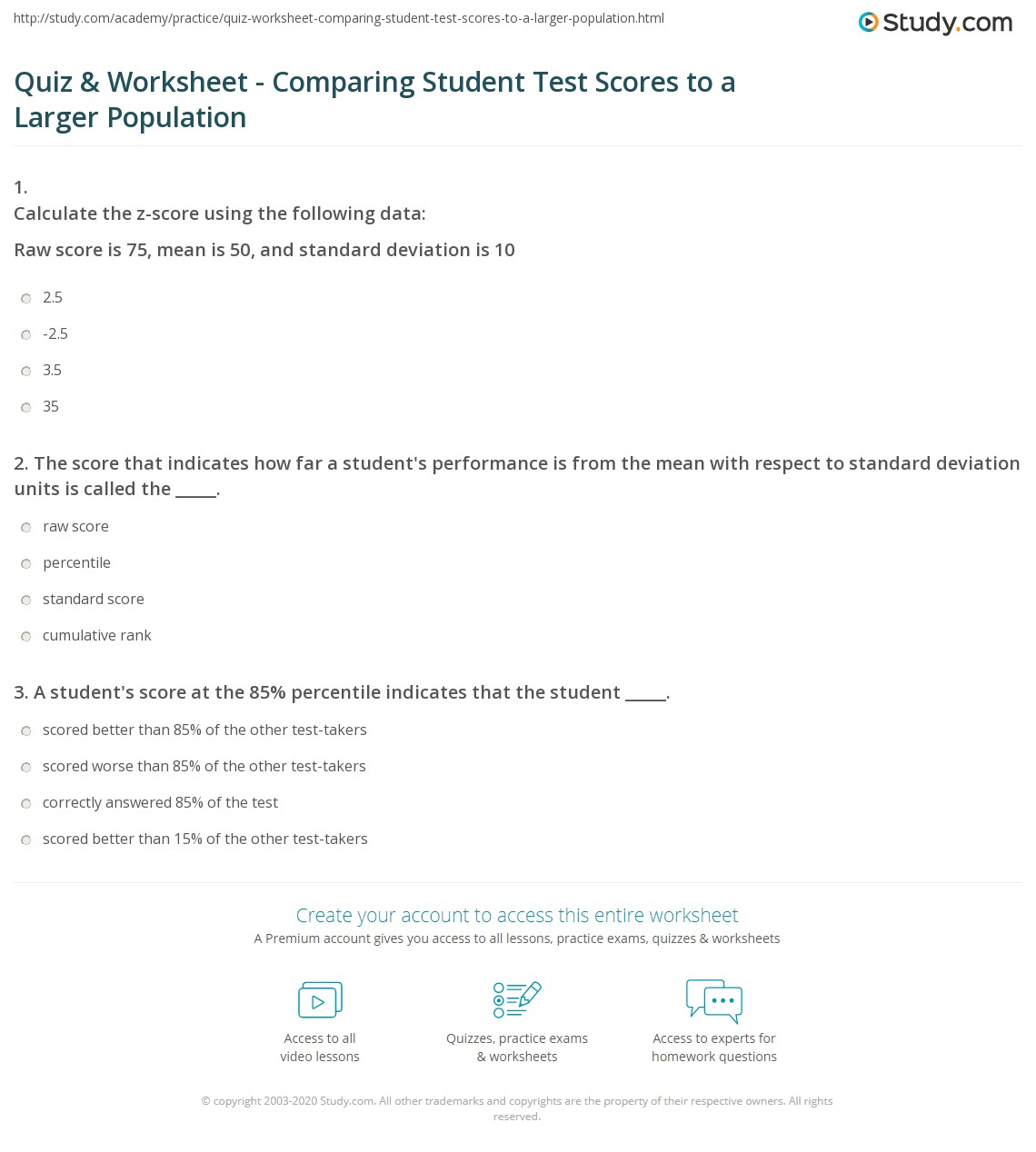 worksheet Z-score Worksheet z score worksheet free worksheets library download and print with answers a between raw of 40 and