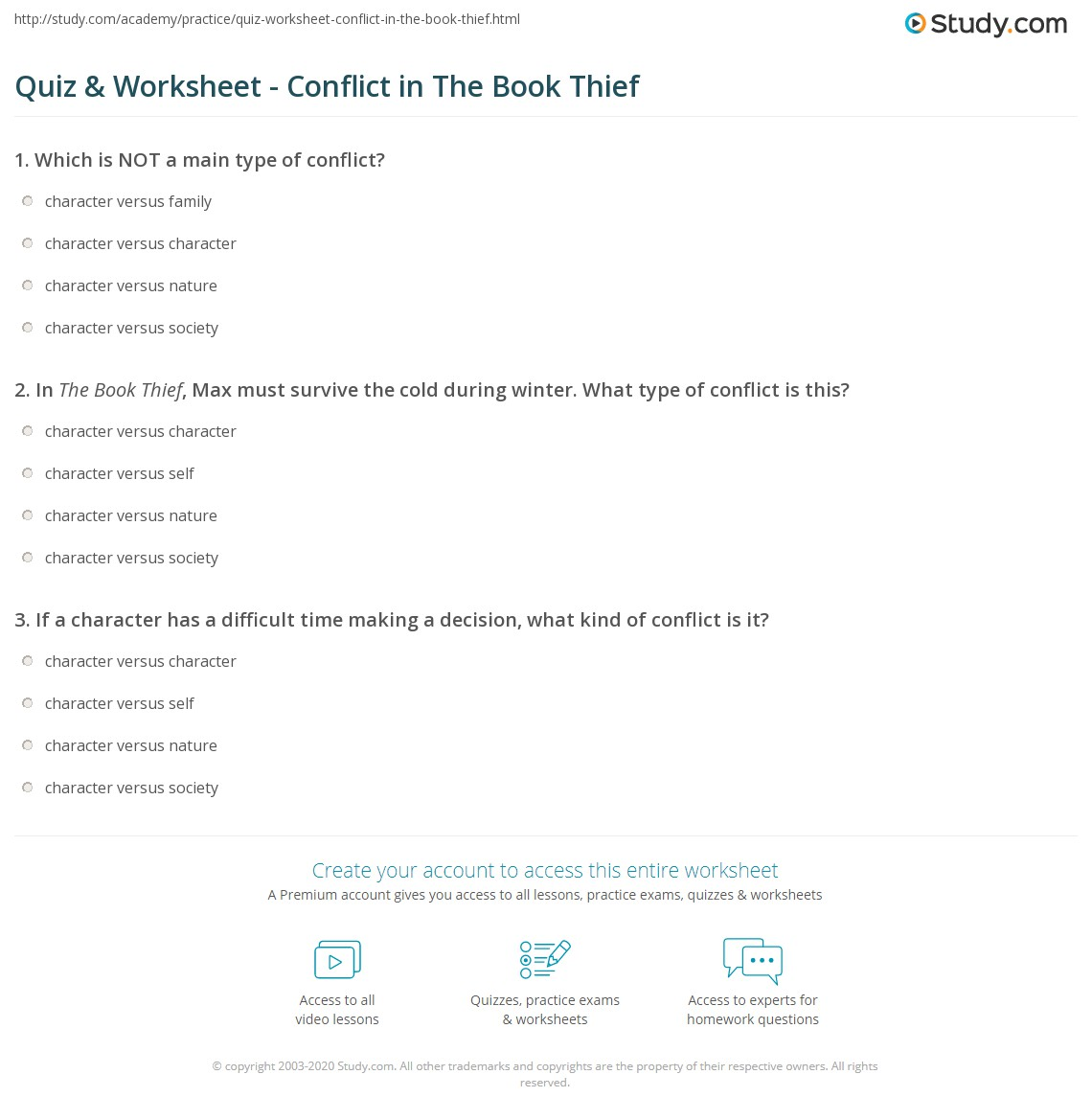 quiz worksheet conflict in the book thief com print conflict in the book thief worksheet