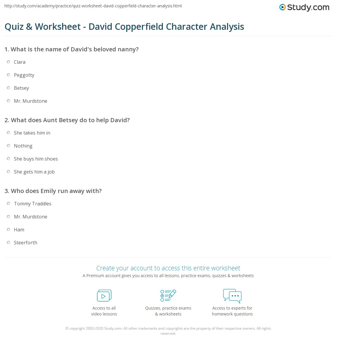 quiz worksheet david copperfield character analysis study com print david copperfield character analysis overview worksheet