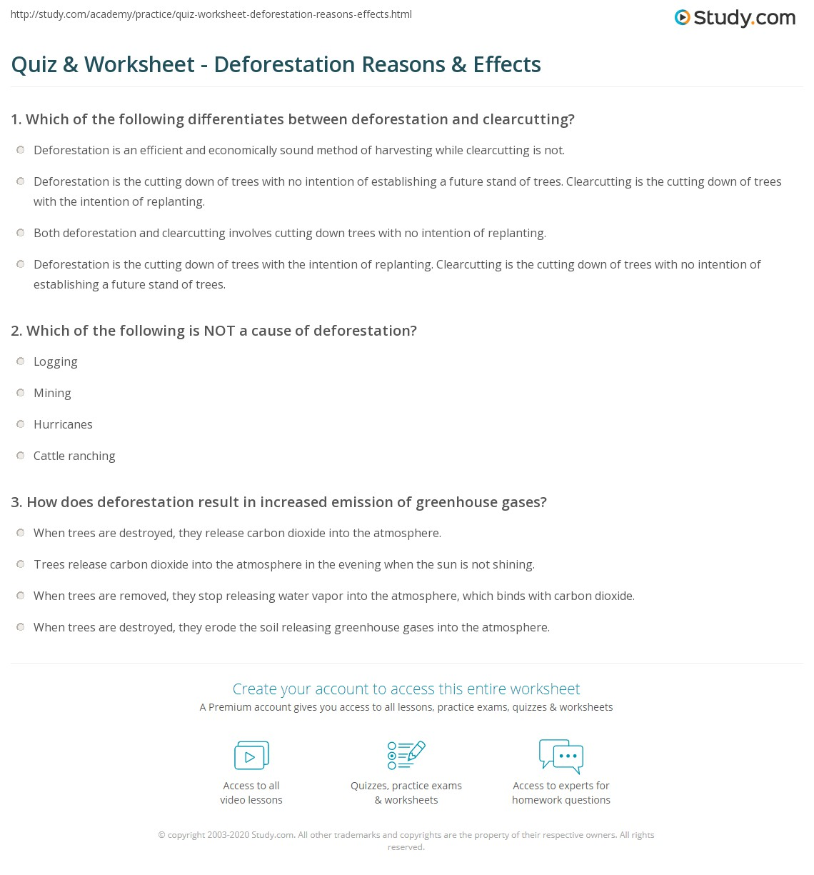 Uncategorized Greenhouse Effect Worksheet quiz worksheet deforestation reasons effects study com print definition causes consequences worksheet