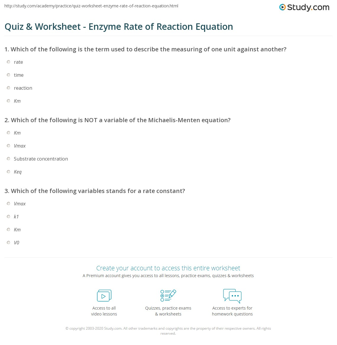 What is the unit for measuring rates of reactions?
