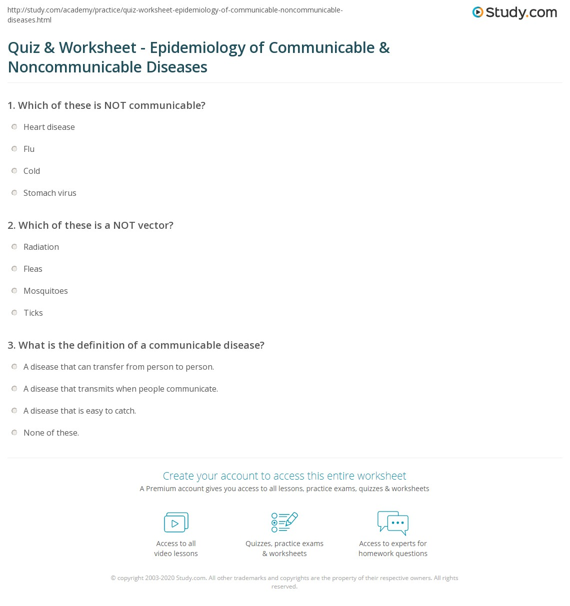 quiz worksheet epidemiology of communicable noncommunicable print epidemiology of communicable noncommunicable diseases worksheet