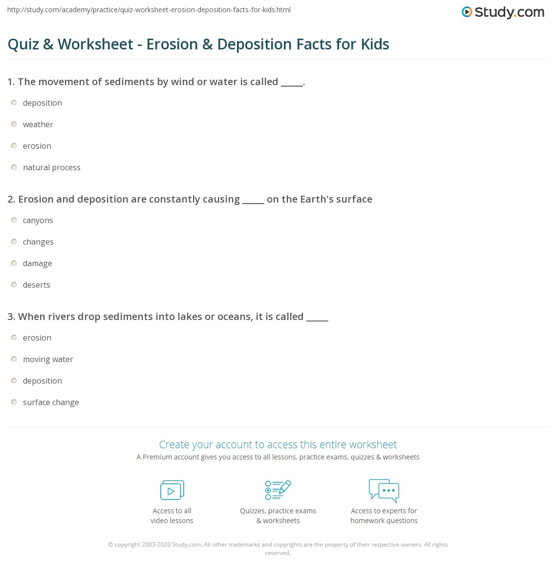 Worksheets Weathering And Erosion Worksheets For Kids weathering and erosion worksheets for kids science teaching resources worksheet