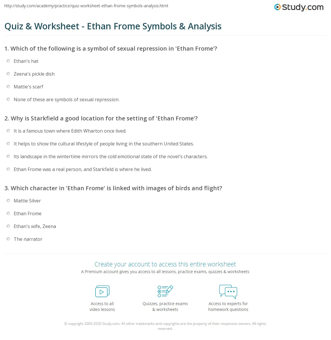 quiz worksheet ethan frome symbols analysis com print ethan frome symbols analysis worksheet
