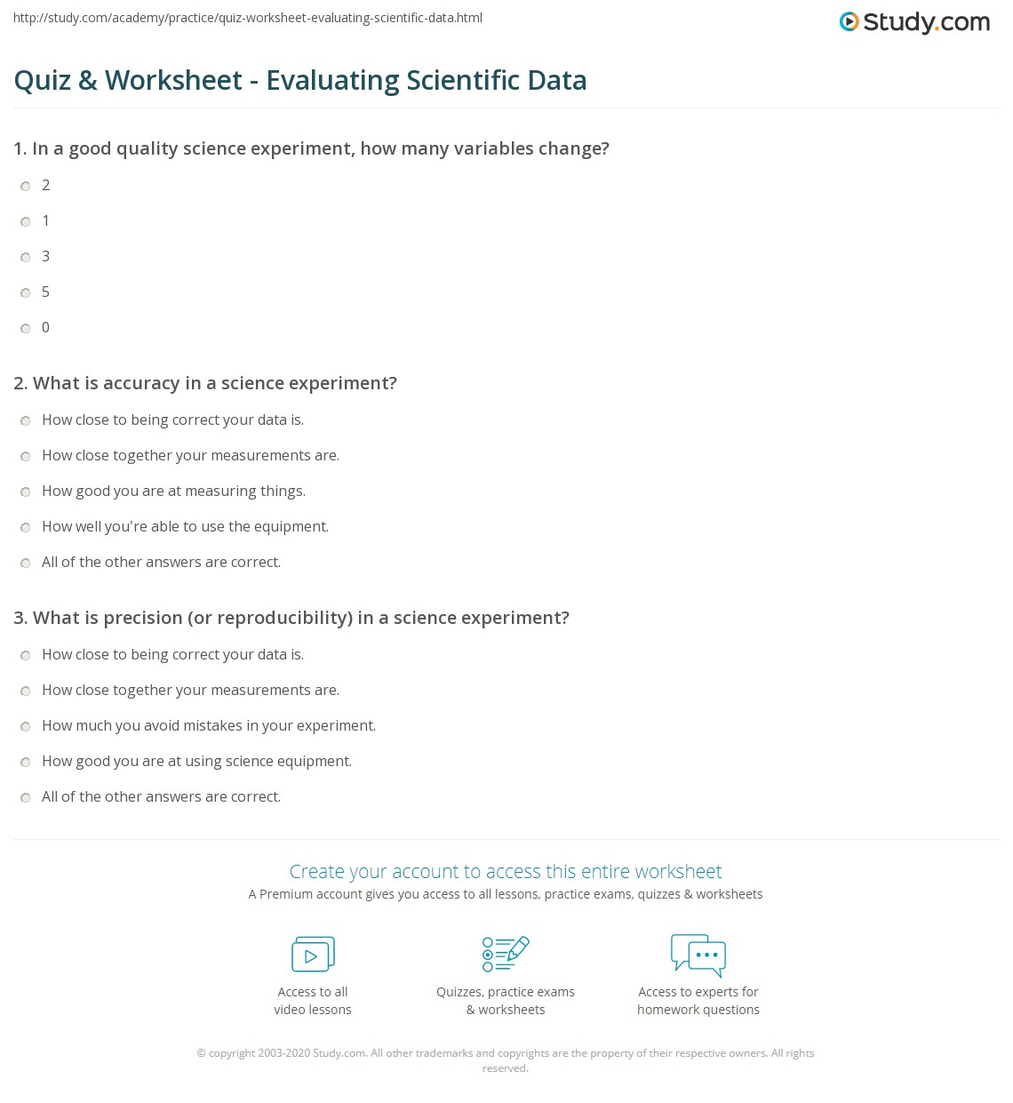 Worksheets A Good Scientist Can Worksheet quiz worksheet evaluating scientific data study com print from investigation worksheet