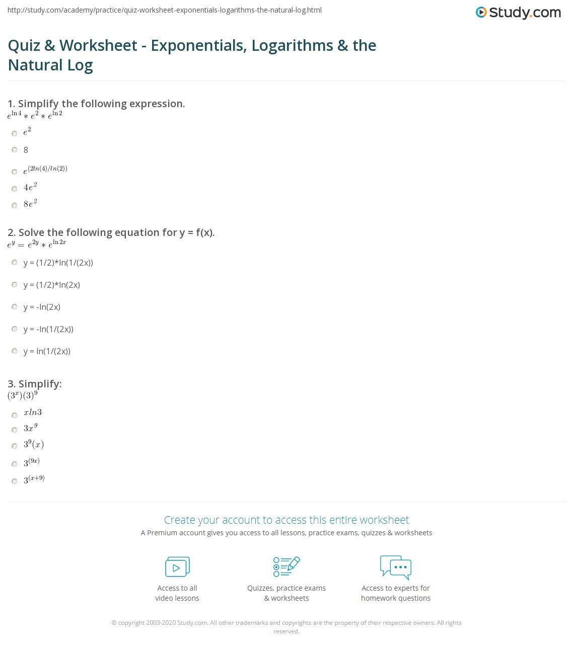 Worksheets Post Acute Withdrawal Syndrome Worksheet natural logarithm worksheet