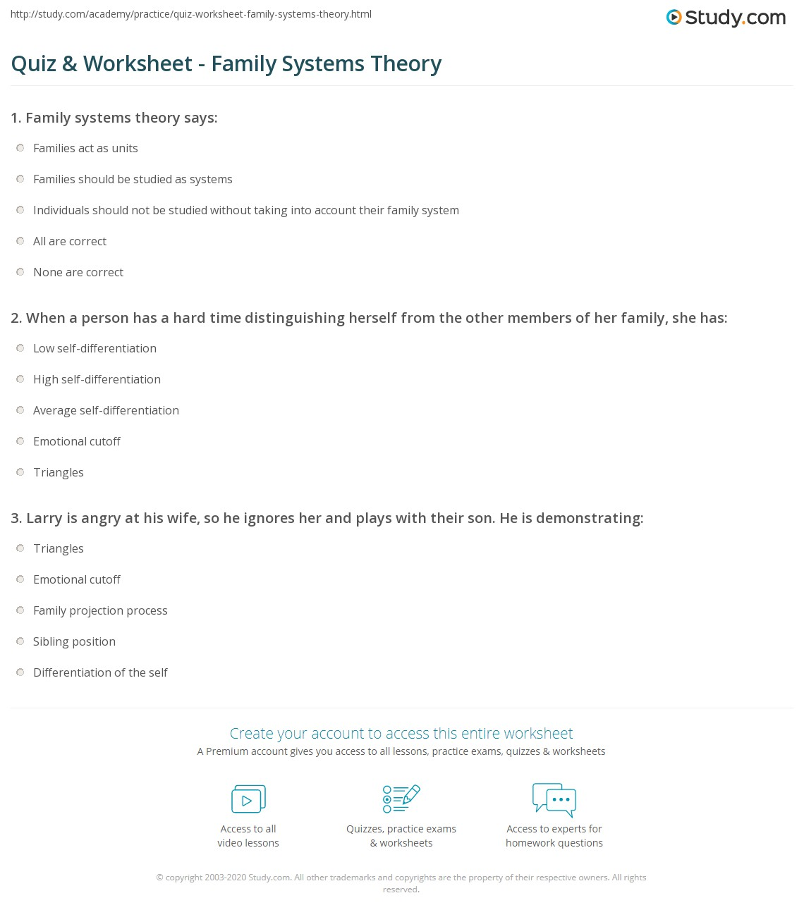 Uncategorized Family Therapy Worksheets quiz worksheet family systems theory study com print murray bowens worksheet
