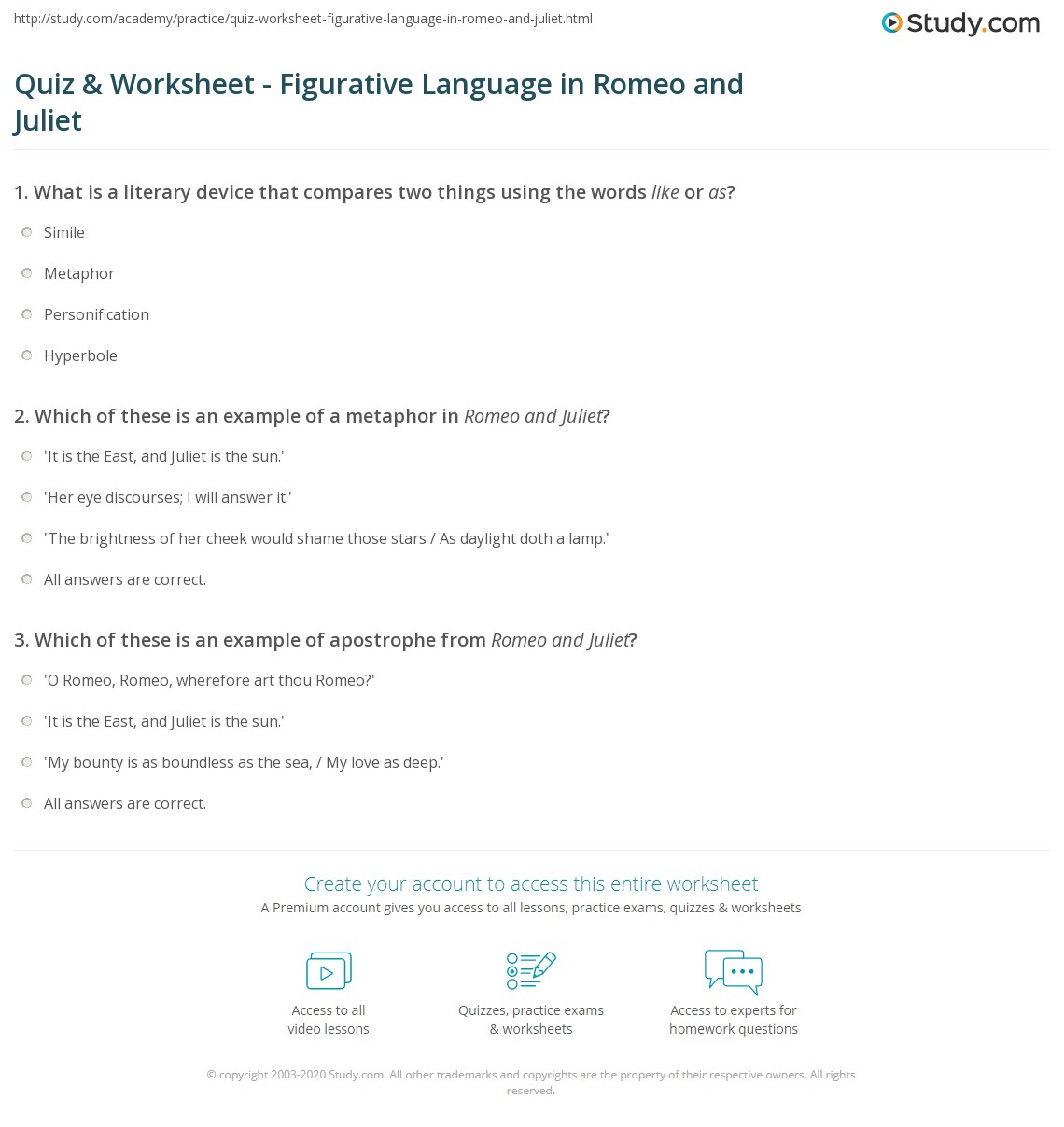 Identifying Figurative Language Worksheet Answers - Delibertad