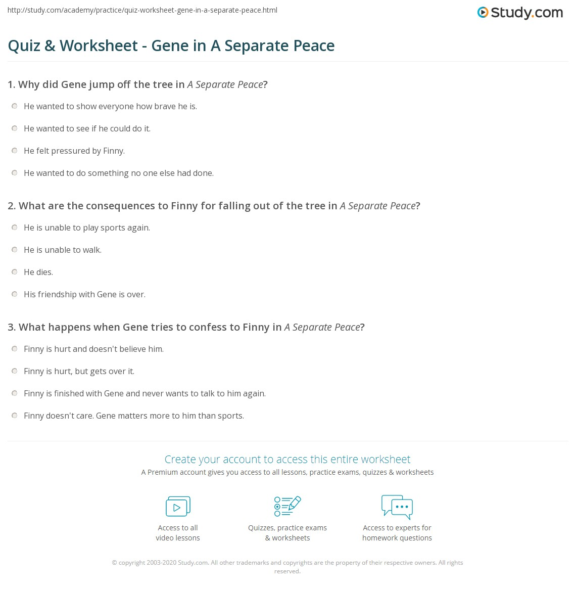 math worksheet : quiz  worksheet  gene in a separate peace  study  : Jump Math Worksheets