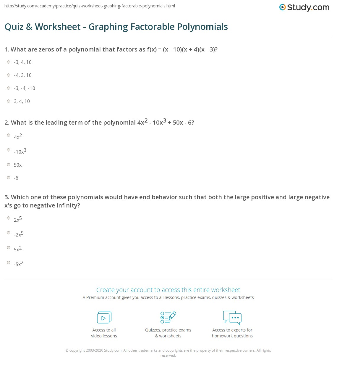 Free Worksheet Graphing Polynomials Worksheet quiz worksheet graphing factorable polynomials study com print polynomial functions worksheet