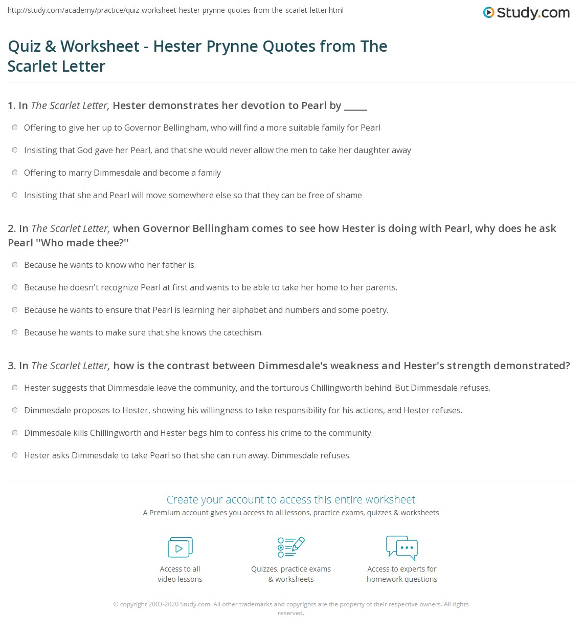 quiz worksheet hester prynne quotes from the scarlet letter print the scarlet letter hester prynne quotes examples analysis worksheet
